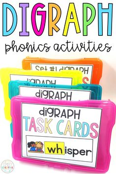 Students can practice learning beginning digraphs with these phonemic awareness, phonics, word work literacy centers. Kids will use recording sheets where appropriate. They will complete digraph word sorts and spelling for ch, ph, sh, th, wh, and wr. These phonics activities are great for first grade small groups. Students will love the fun digraph activities they get to do!