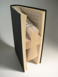 Hardback Book - Folded Book Art - Holy Cross