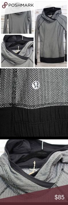 Lululemon Hoodie  Excellent condition Hard-to-find hounds-tooth print Thumbhole sleeves Back zip pocket If you are a 2, you NEED this incredible comfy Lulu hoodie! Trust us! -- price firm no trades -- selling for less on www.chicboutiqueconsignments.com lululemon athletica Tops Sweatshirts & Hoodies