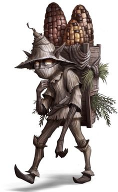 "Fastachee- Native American myth: ""little giver"" a small dwarf that gives people corn and medicine."