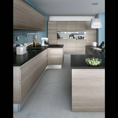 Advice and selection to create an open kitchen - Hdeco Semi Open Kitchen, Traditional Tile, Small Kitchen Storage, Classic House, Modern Kitchen Design, Kitchen Styling, Kitchen Furniture, Kitchen Remodel, Kitchen Cabinets