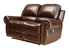 Abbyson Living Mercer Reclining Italian Leather Loveseat >>> Want additional info? Click on the image.