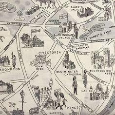 New Passport, London Map in Black & White
