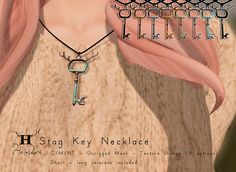 +Half-Deer+ Stag Key Necklace for FLF http://maps.secondlife.com/secondlife/Offbeat/217/99/23