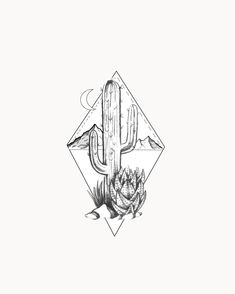 Cactus Tattoo - Tattoo Ideas - Cactus framed tattoo with mountains and moon The Effective Pictures We Offer You About cactus tatto - Cowgirl Tattoos, Boho Tattoos, Dream Tattoos, Time Tattoos, Body Art Tattoos, Small Tattoos, Sleeve Tattoos, Floral Skull Tattoos, Basic Tattoos