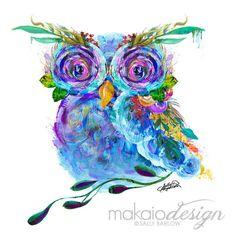 Garden of the Wild Owl Mixed Media Wall Decor Art Canvas Gallery Wrap Artist Canvas, Canvas Art, Canvas Prints, Media Wall, Baby Owls, Owl Art, Wall Art Decor, Wrapped Canvas, Cute Babies
