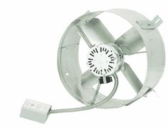 The Cool Attic Gable-Mount Attic Exhaust Ventilator Fan offers effective power attic ventilation to reduce heat buildup, equalize temperatu. Gable Vents, Roof Vents, Attic Vents, Laser Tag, Composition Roof, Attic Fan, Thing 1, Galvanized Steel, Exhausted