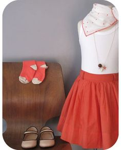 Pumpkin colored skirt :)