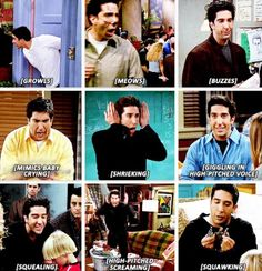Ross noises! Pin/Like if you have either laughed or imitated him before! <3