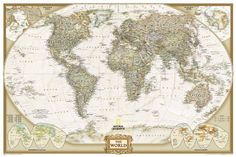 World Executive Poster Sized Wall Map (laminated) by National Geographic Maps, http://www.amazon.com/dp/1597752096/ref=cm_sw_r_pi_dp_j7DSpb16RDPC4