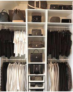 63 Ideas for white wardrobe closet bedrooms Wardrobe Room, Closet Bedroom, White Wardrobe, White Closet, Closet Space, Bag Closet, Closet Office, Girl Closet, Girls Wardrobe