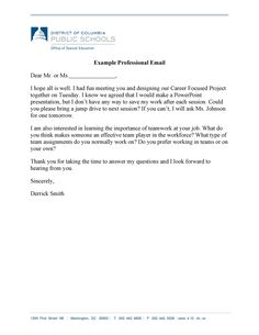 30+ Professional Email Examples & Format Templates ᐅ TemplateLab Professional Email Example, Professional Email Templates, School Office, Public School, Special Education, Presentation, Writing, State School, A Letter