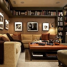 Think the book built-ins above is an interesting look - I do need book shelves for the parlor (where the poker table will go)