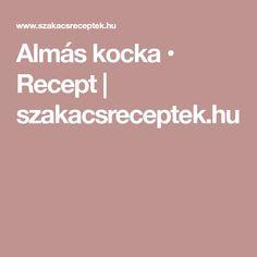 Almás kocka • Recept | szakacsreceptek.hu