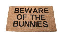 doormat | Doormat - Beware of the Bunnies | Doorstops and Doormats | Gifts ...