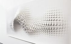 French designer Ora-Ito created a sculptural wall relief for a recent exhibition in London.