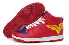 Wonder Nouveaux produits Nike soldé Dunk High Top Custom Femme Chaussures Superhero Chaussures(8Kol0E)