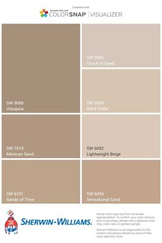 How to Choose the Right Interior Paint Colors Beige Paint Colors, Paint Color Schemes, House Color Schemes, Exterior Paint Colors, Bedroom Paint Colors, Paint Colors For Living Room, Exterior House Colors, Paint Colors For Home, Home Room Design