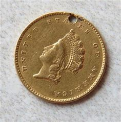 1855 Indian Princess 1 Dollar Gold US Coin Featured in our upcoming auction on June 14!