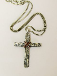 Estate art deco sterling silver marcasite cross crucifix necklace mens sterling silver tree bark cross mens silver cross necklacemens cross necklacemens cross jewelrychristian jewelrychristian necklace aloadofball Image collections