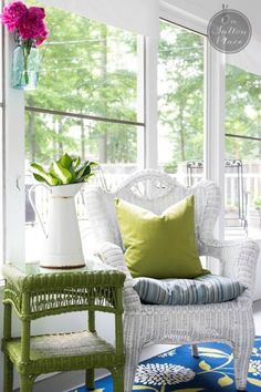 5 Summer Porch Decor Ideas that will add a cozy feeling to your outdoor space, and make it function like an indoor space. Porch Decorating, Interior Decorating, Interior Design, Summer Decorating, Decorating Ideas, Outdoor Spaces, Outdoor Living, Outdoor Decor, Outdoor Ideas