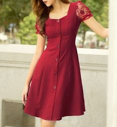 Casual summer outfits ideas for Fashion outfits Simple Dresses, Casual Dresses, Short Dresses, Girls Dresses, Frock Fashion, Fashion Dresses, Pretty Outfits, Pretty Dresses, Dress Outfits