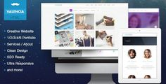 Valencia - Creative Flat iOS7 Inspired Template . Valencia has features such as High Resolution: Yes, Compatible Browsers: IE9, IE10, IE11, Firefox, Safari, Opera, Chrome, Compatible With: Bootstrap 3.x, Columns: 4+