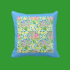 Spring Primroses Pillow or Cushion