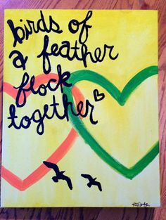 Birds of a Feather arcylic canvas painting
