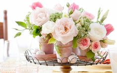 Whether a single stem or a lush bouquet, floral displays add color to life's precious moments. Small Flower Arrangements, Small Flowers, Rose Cottage, Centerpieces, Bloom, Display, Tablescapes, Florals, Ladies Lunch