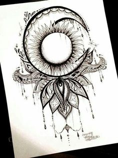 This would be a cool tatoo. Piercing Tattoo, Et Tattoo, Tattoo Henna, Tattoo Hals, Tattoo Drawings, Tattoo Sun, Half Moon Tattoo, Sun Tattoos, Bild Tattoos