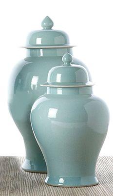 Tozai Home Aquamarine Temple Jars I sure like these