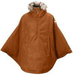 Product Details Knee-length cape with hood in water resistant G-1000® and a lightweight synthetic lining. Practical on its own as an autumn garment or as a shell garment in the winter. Description Sma