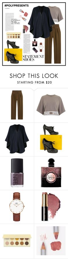 """""""#PolyPresents: Statement Shoes"""" by flaviolanarisa ❤ liked on Polyvore featuring Topshop, Sofiacashmere, Fendi, NARS Cosmetics, Yves Saint Laurent, Daniel Wellington, Bobbi Brown Cosmetics, La Bella Donna, contestentry and polyPresents"""