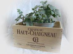 Kisten & Boxen - Weinkiste 'Chateau Haut-Chaigneau' Vintage - ein Designerstück von Dragonflys-Home bei DaWanda