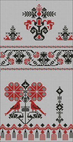 Свадебные рушники схемы орнамента