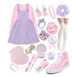 A fashion look from February 2018 by anniebeexoxo featuring Vans Forever 21 and In Your Dreams Pastel Goth Fashion, Kawaii Fashion, Lolita Fashion, Cute Fashion, Petite Fashion, Cute Girl Outfits, Cute Outfits For Kids, Cute Casual Outfits, Harajuku Mode