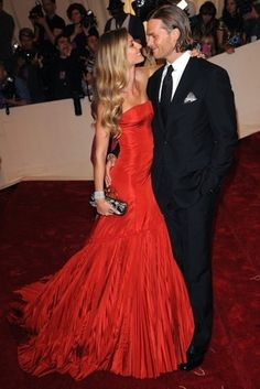 fee590a5dd1f Best-Dressed couple Gisele Bundchen—wearing a stunning Alexander McQueen  gown—and Tom Brady.