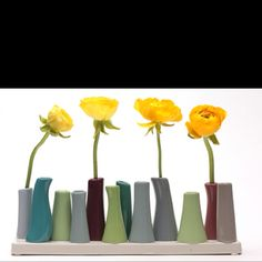 Bud Vases - lots of colors - chive.com