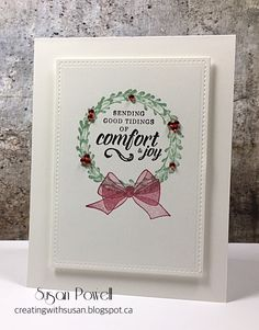 Love the softness of this bow from Stampin' Up Wishing You Well stamp set.