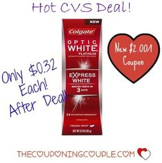 ****PRINT YOUR COUPONS NOW**** Grab SUPER CHEAP Colgate Optic White Express Toothpaste at CVS with Coupon and ECB Deal!  You will find the FULL DEAL BREAKDOWN with Direct link to the coupon HERE ► http://www.thecouponingcouple.com/cheap-colgate-optic-white-express-3-1-15/  #Coupons #Couponing #CouponCommunity  Visit us at http://www.thecouponingcouple.com for more great posts!