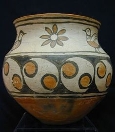 San Ildefonso Bowl,Southwest Native American Indian Pottery