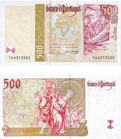 Portugal - 500 escudos – João de Barros Entrada em circulação: 17-09-1997 Retirada de circulação: 28-02-2002