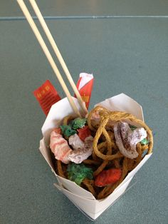 Pop art paper mache food