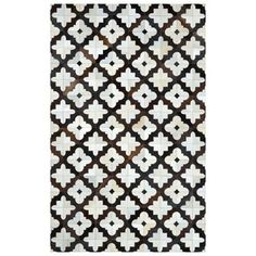 nuLOOM QALUM35A Cowhide Charcoal Hand Stitched Robin Cowhide Area Rug