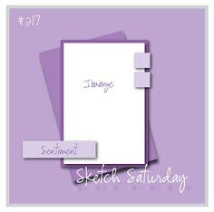 August Card Sketch Challenge - Sketch #3 - Scrapbook.com