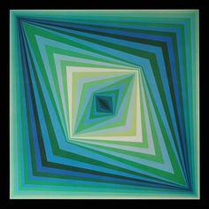 J'ai repéré ce lot sur LotPrivé: Art Contemporain - Victor VASARELY Rhombus<br /> Estampe gélatinée en couleurs sur papier, 1973.<br /> Tirage d'époque, titré et cachet de l'éditeur sur un cartel au dos.<br /> 41x41 cm Bibliographie : « Vasarely Volume III » par Marcel Joray, Editions du Griffon.