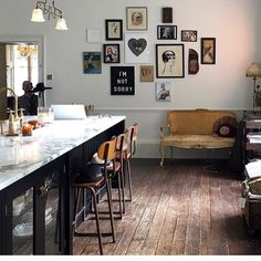 Chuffed to see this on my feed this morning, posted by the lovely @rockettstgeorge ( via @devolkitchens) This is @pearllowe's stunning kitchen, and if you look carefully, my Rubbish Without You black heart print is on the gallery wall! After my ranting about dull and samey kitchens the other day, I can confirm that this is certainly neither, and I can't wait to see more. I've had so many messages from people wanting to know how to avoid a dull samey kitchen (), that I'll be writing a blog...