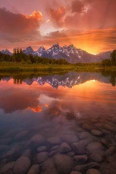 Schwabacher Sunset - Grand Teton, Wyoming by Chip Phillips