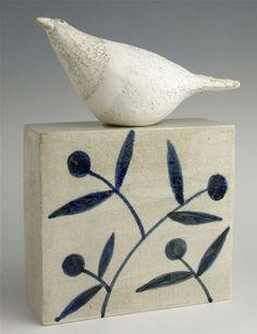 Bird on a box by Jane Muir